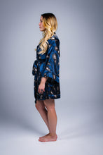 Load image into Gallery viewer, Silk Kimono Robe in Blue