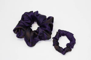 Silk Ankara Super Scrunchie Set - Navy Blue