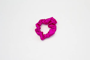 Silk Super Scrunchie Set - Hot Pink