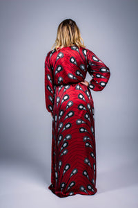 Silk Dressing Gown In Red