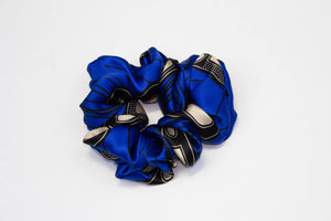 Silk Ankara Super Scrunchie - Royal Blue