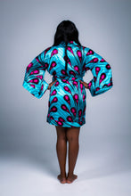 Load image into Gallery viewer, Silk Kimono Robe in Teal