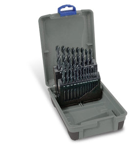 "Drill Set Black | Imperial: 1/16 - 3/8 x 1/64"" rises 