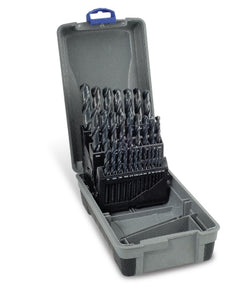 "Drill Set Black | Imperial: 1/16 - 1/2 x 1/64"" rises 