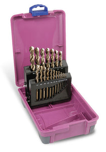 Drill Set Cobalt | Metric: 1.0 - 10.0 x 0.5mm rises | 19pc