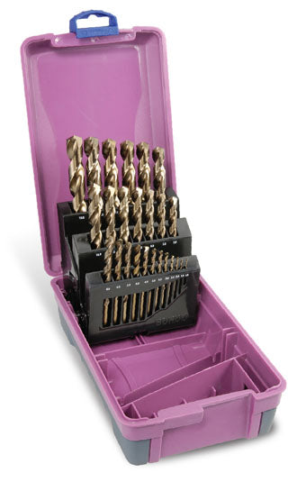 Drill Set Cobalt | Metric: 1.0 - 13.0 x 0.5mm rises | 25pc