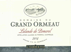 Load image into Gallery viewer, Domaine Du Grand Grand Ormeau Pomerol 2014