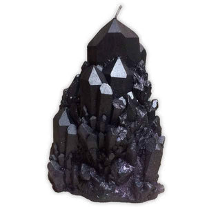 Abundance Smokey Quartz Crystal Candle