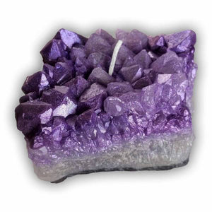 Amethyst Crystal Cluster Candle