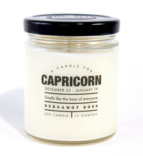 Capricorn Astrology Candle