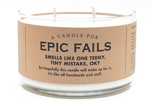 A Candle for Epic Fails