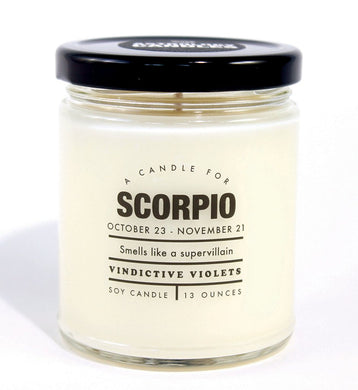 Scorpio Astrology Candle