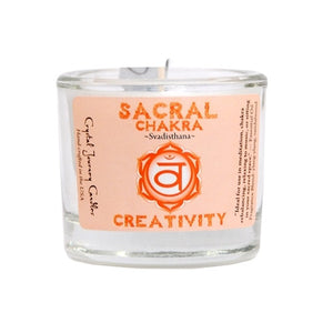 Sacral Chakra Soy Filled Votive Holder