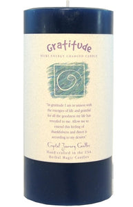 Gratitude Herbal Magic 3x6 Pillar