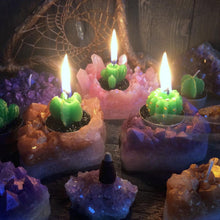 Rose Quartz Crystal Cluster Candle