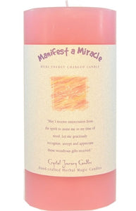 Manifest a Miracle Herbal Magic 3x6 Pillar