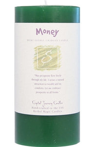 Money Herbal Magic 3x6 Pillar