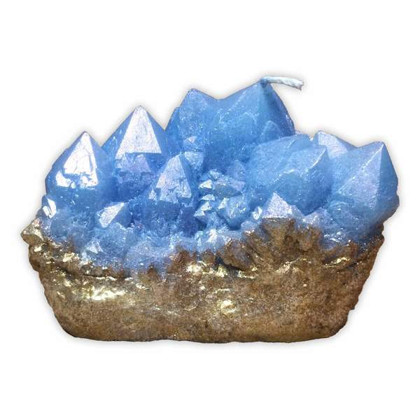 Gold Dipped Blue Spirit Quartz Candle