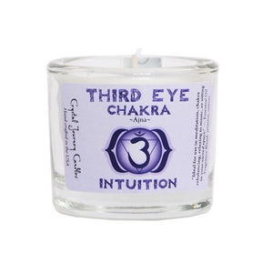 Third Eye Chakra Soy Filled Votive Holder