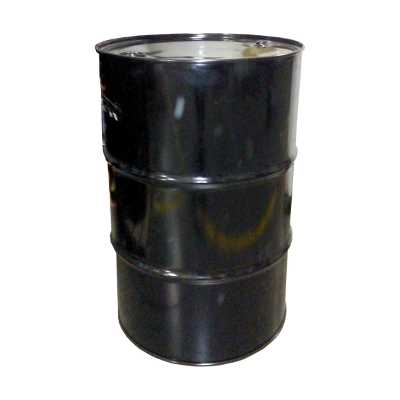 55 GALLON TIGHT HEAD STEEL DRUM, BLACK, UNLINED WITH 2