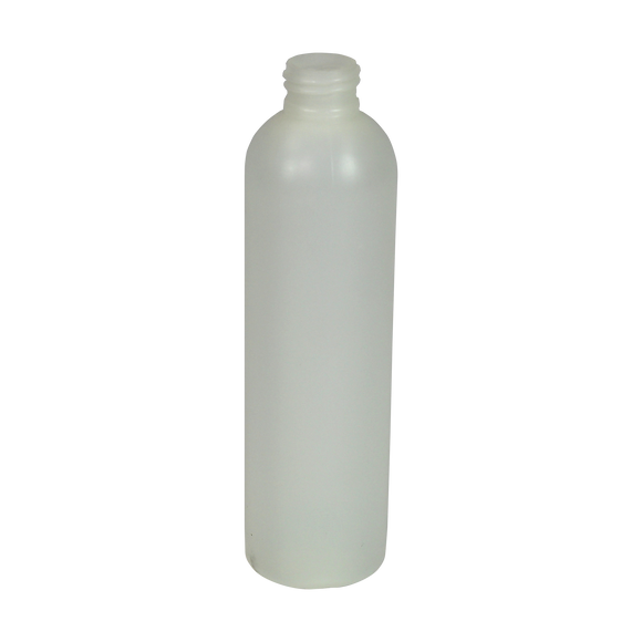 24/410 8 OZ NATURAL COSMO ROUND WITH 25% PCR LEVEL 3 FLOURINATION  (PLN BTL #PB028OZN-C) <b>(324/Case)</b>