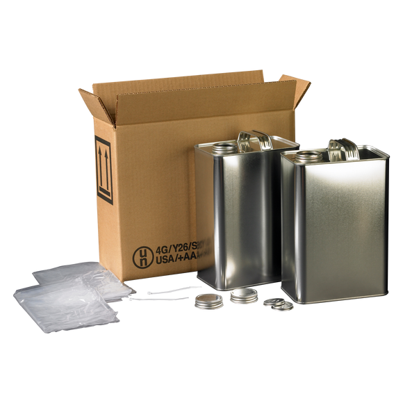 4G F-STYLE  2 x 1 Gallon Metal Can Kit