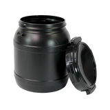 15 LITRE WIDE MOUTH KEG W/ UV PROTECTION.  15 LITRE OR 4 GALLON BLACK <b>(96/Pallet)</b>