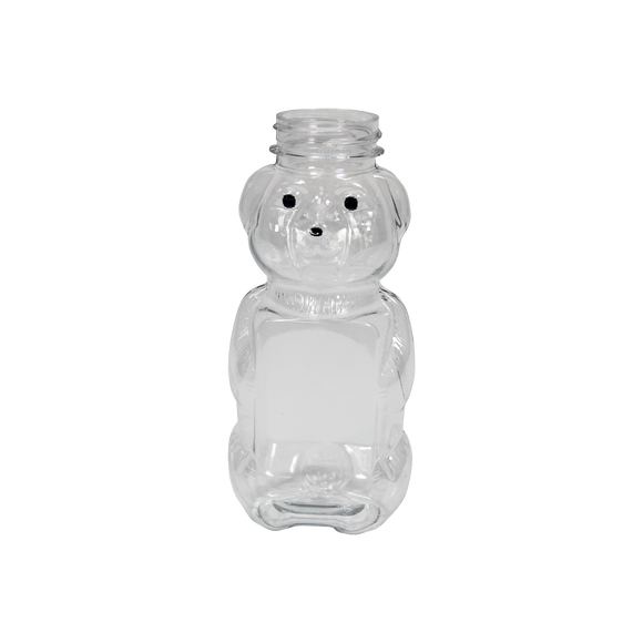 38/400 8oz HONEY BEAR CLEAR 285/CS K-RESIN DECORATED <b>(4560/Skid)</b>