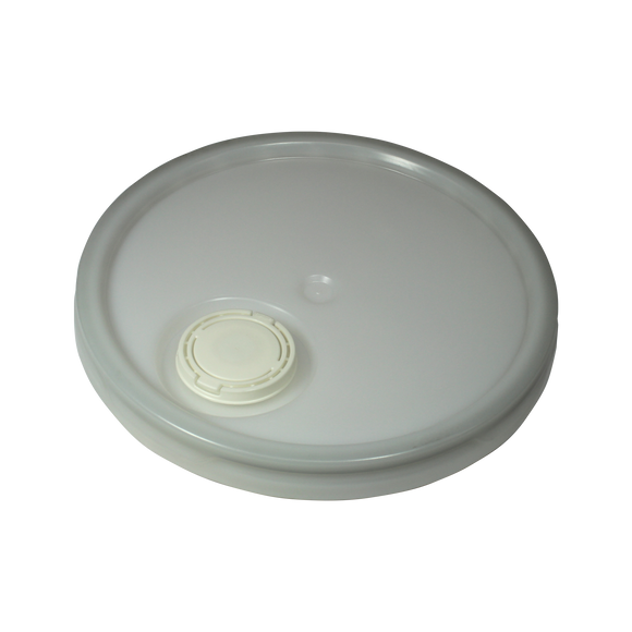 5 GALLON, NON UN, NATURAL OPEN HEAD LID WITH SENIOR RIEKE -  (ROPAK LTGZ0004101) <b>(240/Tray)</b>