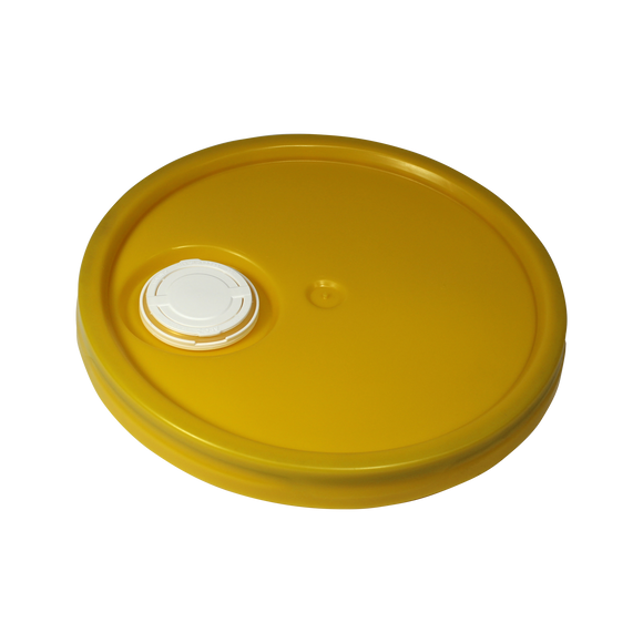 3-5-6 GALLON 4D YELLOW SR. RIEKE LID (ROPAK #LTGZ4004101) <b>(48/Case)</b>