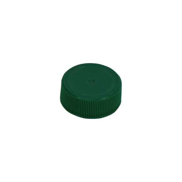 28/400 GREEN PP CAP RIBBED MATTE SURESEAL LINED  <b>(6250/Case)</b>