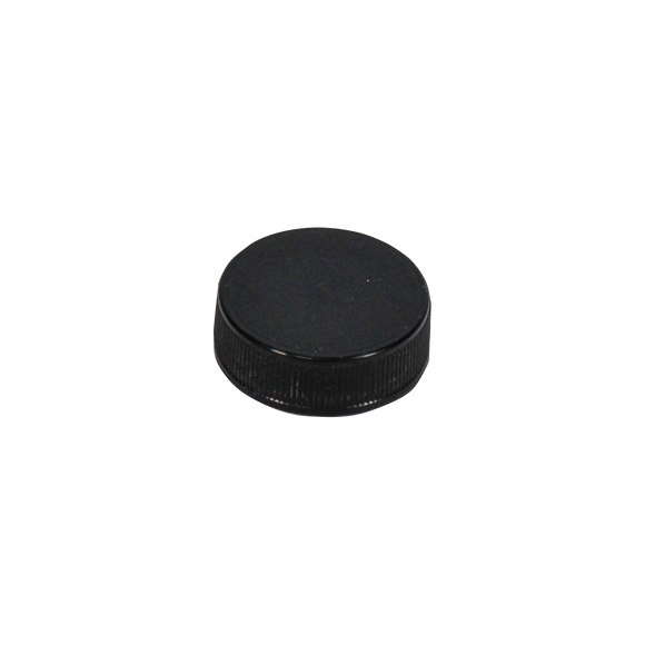 33/400 BLACK PP CAP RIBBED MATTED LINED F217 <b>(3100/Case)</b>