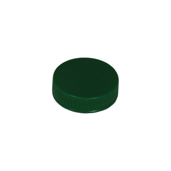 CAP, 38/400 GREEN PP CAP RIBBED MATTE <b>(3750 Units / Case)</b>