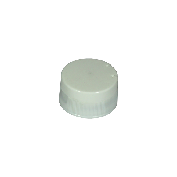 CAP, 33/400 WHITE PP LCC22 W/.250 ORIFICE, HS LINED FOR PET A319-FS3-19/S70 <b>(2500 Units / Case)</b>