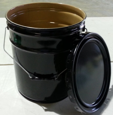 5-Gallon Open-Head Steel Pail w/Epoxy Lining;
