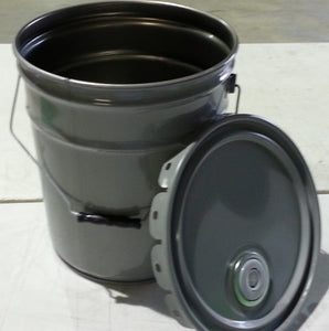 Unlined Open-Head Steel Pail w/ bail & Rieke - 5-Gallon - (1A2-5R)