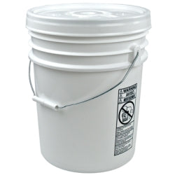 5 Gallon Open-Head, Dual-Rated Plastic Pail with Solid UN Cover