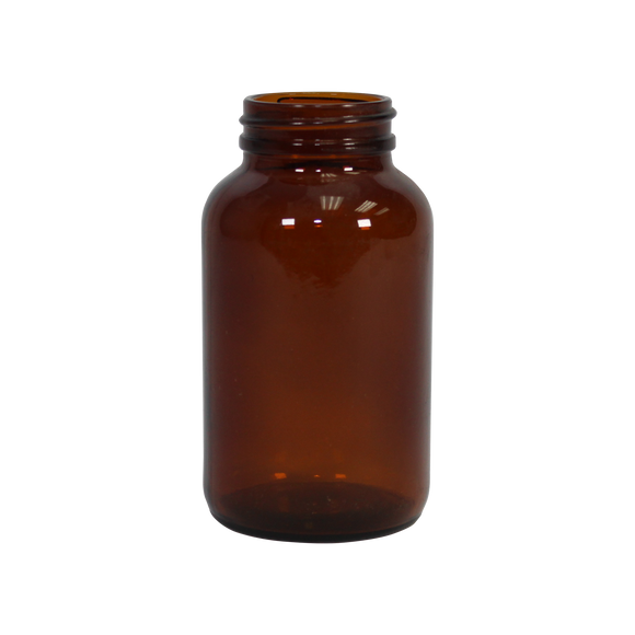 8-Ounce Wide-Mouth Glass Bottle (Amber) - (2G-8A)