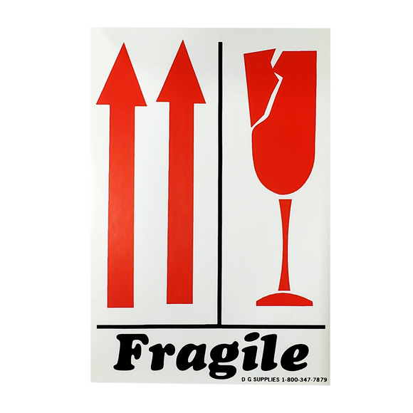 Fragile w/Orientation Arrows Labels (500 Roll, 4