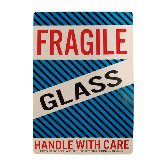 Fragile, Glass Handling Labels (500 Roll, 4