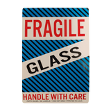 "Fragile, Glass Handling Labels (500 Roll, 4""x6"") - (DGFGLASS)"