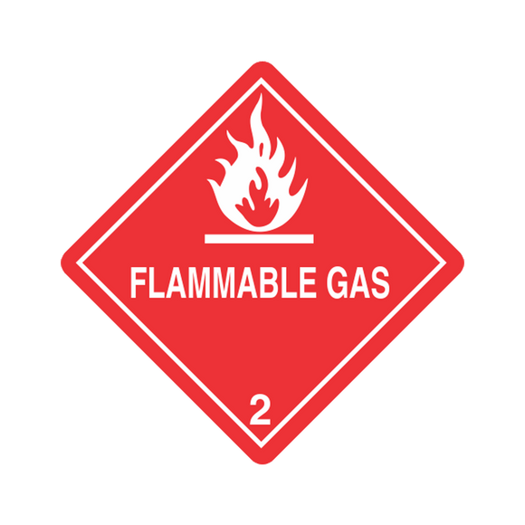 Class 2 Flammable Gas Labels (100 Roll, 4