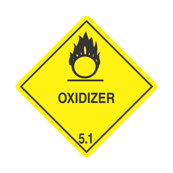Class 5 Oxidizer Labels (100 Roll, 4