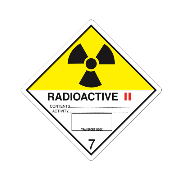 Class 7 Radioactive II Labels (100 Roll, 4