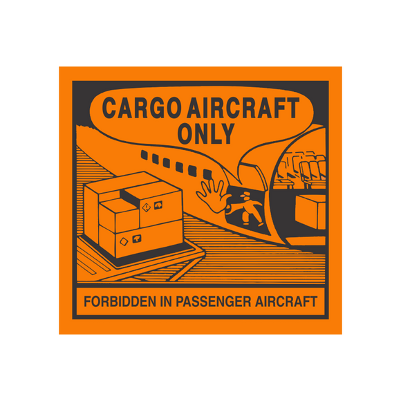 Danger Cargo Aircraft Only Labels (100 Roll, 4