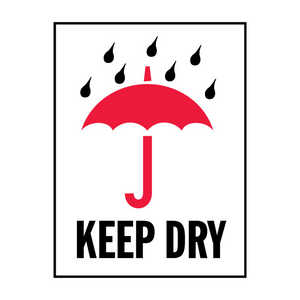 "Keep Dry Handling Labels (500 Roll, 4""x4"") - (DGKD)"