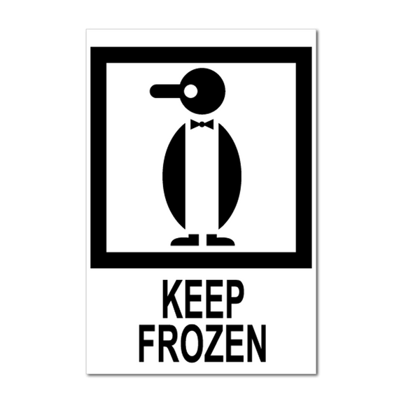 Keep Frozen Handling Label (500 Roll, 4