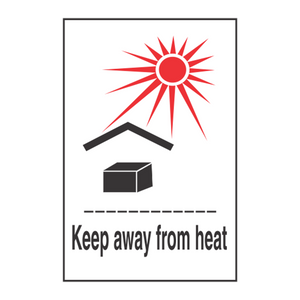 "Keep From Heat Handling Label (500 Roll, 4""x4"") - (DGKFH)"
