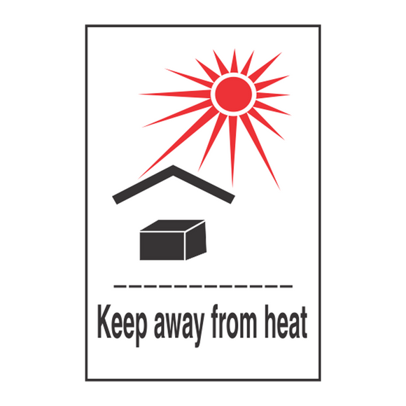 Keep From Heat Handling Label (500 Roll, 4