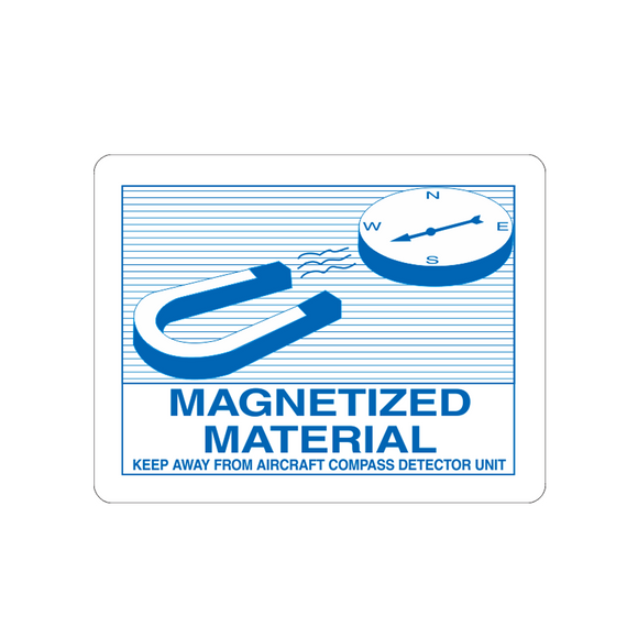 Magnetized Material Labels (500 Roll, 4